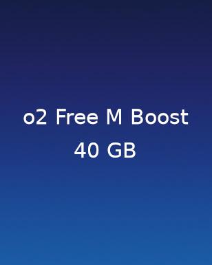 2 für 1 Aktionstarif O2 Free M Boost 40GB